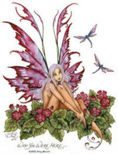 Amy Brown Fairy Art Postcard Wish You were Here Amy Brown Fairies, Dark Fairies, Dragons, Fairy Drawings, Kobold, Unicorns And Mermaids, Fairy Pictures, Butterfly Fairy, Love Fairy