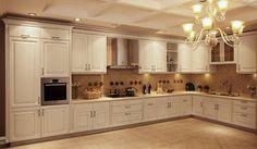 Romantic white kitchen