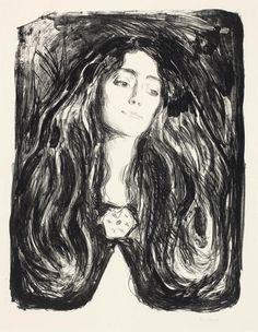 Edvard Munch (1863-1944) Die Brosche, Eva Mudocci 1903 (768 x 572 mm)