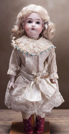 """13 1/2"""" (34 cm) Antique German Pretty Bisque Child Doll,167,by Kestner from respectfulbear on Ruby Lane"""