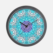 colourful bold bohemian pattern Wall Clock for