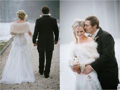 Lesley Ann & Tommy's Winter wedding in Austria // Schloss Prielau // Claire…