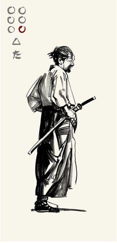 Akira Kurosawa's Seven Samurai - Gorobei by Greg Ruth