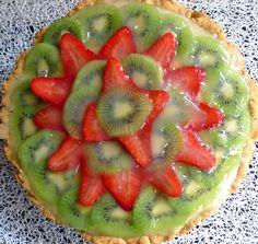 tarta de frutas y crema pastelera