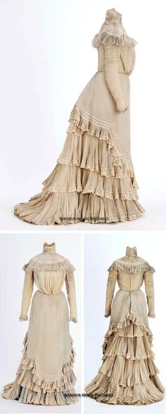 Wedding gown, Julia & Mary Tomasek, St. Paul, MN, 1899. Ivory crepe. Minnesota Historical Society