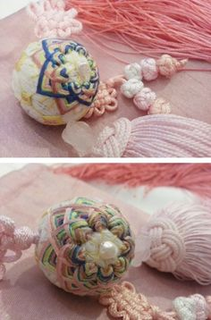 [손공자수] 한복 노리개, An embroidered ball korean accessory