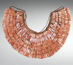Southern Peru | Necklace; nazca shell and fiber | ca. 200 - 600 ap. J.-C | 23,750€ ~ sold (Mar. 2013)