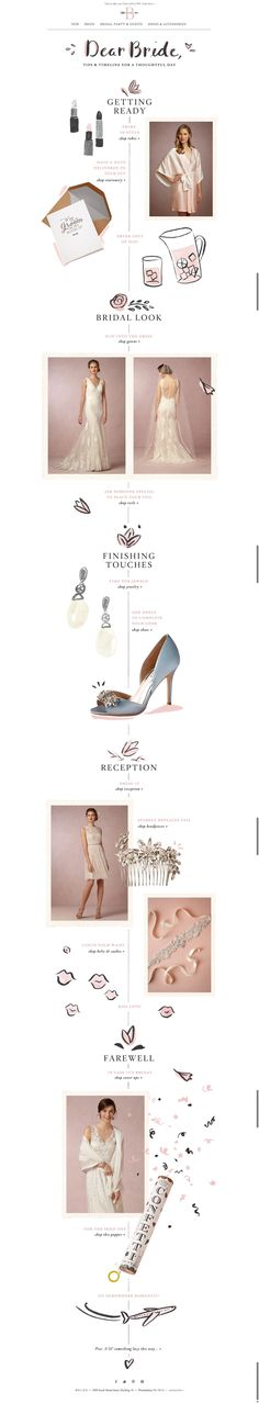 #newsletter BHLDN 03.2015 A bride's guide to her wedding day.