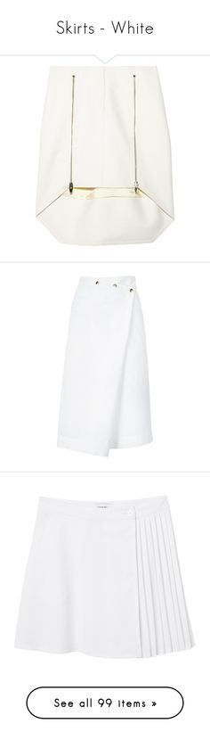 """Skirts - White"" by makica-brate ❤ liked on Polyvore featuring skirts, mini skirts, bottoms, saias, shorts/skirts, alexander wang, high low skirt, white skirt, mini skirt and short white skirt"