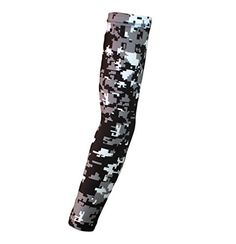 de3707aa86 Moisture Wicking Sports Compression Arm Sleeve - Youth & Adult Sizes - Baseball  Football Basketball (Black-Gray-White Digital Camo, Large) by Bucwild Sports
