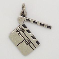 James Avery Retired RARE Clapperboard Movie Sterling Silver 925 Charm | eBay