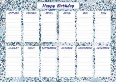 Les mercredis d'Héloïse & Apolline: Calendrier des anniversaires