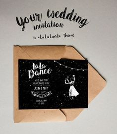 La La Land Wedding invitation