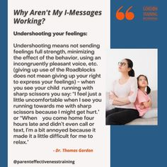 #imessages #communication #gordonmodel #gordontraining When You Come Home, When I See You, Training Programs, Best Quotes, Behavior, It Hurts, Parenting, Messages, Feelings