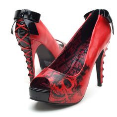 Iron Fist American Nightmare... who wouldn't love corset laces on the back of pinup shoes?