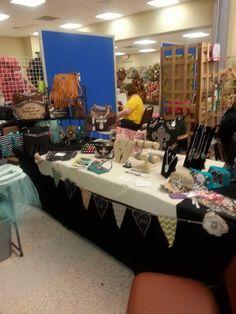 Cindy Jones had this beautiful set up at her local vendor fair.
