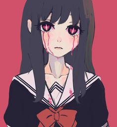 Dark Anime, Pretty Art, Cute Art, Otaku, Cute Profile Pictures, Creepy Cute, Kawaii Art, Horror Art, Aesthetic Anime