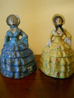 ANTIQUE NATIONAL FOUNDRY SOLID CAST IRON VICTORIAN LADY BOOKENDS DOORSTOPS NICE!
