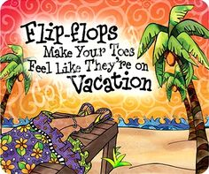 Flip Flops Illustration by Suzy Toronto: http://beachblissliving.com/beach-babes-flip-flops/