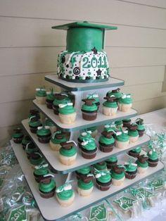 Graduation cupcake stand