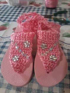 Zapatillas tipo sandalias de crochet