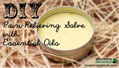 This DIY pain relief salve is easy! Shop affordable and therapeutic essential oils and blends with BioSource Naturals! #aromatherapy