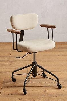 Kalmar Desk Chair, – Home Office Design Vintage Home Office Furniture, Unique Furniture, Living Room Furniture, Furniture Design, Furniture Ideas, Furniture Websites, Inexpensive Furniture, Desk Ideas, Classic Furniture