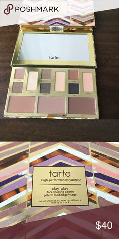"JUST IN Tarte Clay Play Palette Makeup fans! Go to town with this gorgeous palette by Tarte!  Great pigments to take you from day to night. New in box, is tagged ""NWT"" to indicate that it is new, although there is no literal tag hanging from this.  Never used.  Smoke-free/pet-free.  REASONABLE OFFERS ONLY. tarte Makeup"