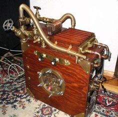The stunning piece of functional work-water-cooled steampunk PC (Two parts water, one part coolant, and one part guts are all it takes to water-cool your PC). Water conducts heat far better than air, and you don't have to be a turbogeek to perform the conversion.