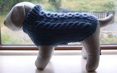 Hand Knitted Blue Alpaca/wool Dog Jumper Dog by IrishSmallKnits, Dog Jumpers, Alpaca Wool, Fingerless Gloves, Arm Warmers, Blue Denim, Hand Knitting, Stitch Patterns, Your Dog, Colours
