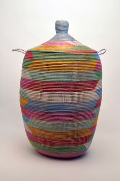 How much sacrifice and time did one African women give for this beautiful basket?