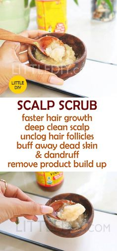SCALP SCRUB FOR HAIR GROWTH - LITTLE DIY - Product buildup is something we don't usually care about but it is the main culprit behind excessive dandruff, itchy scalp, stunt hair growth and hair fall. It is important to scrub your scalp jut as READ MORE… - Updo Tutorial, Natural Hair Care, Natural Hair Styles, Natural Beauty, Scalp Scrub, Itchy Scalp Remedy, Itchy Scalp Shampoo, Itchy Scalp Treatment, Diy Shampoo