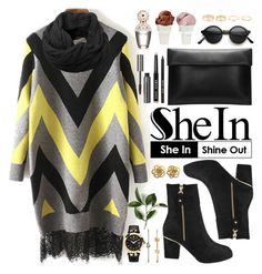 """Shein"" by oshint ❤ liked on Polyvore featuring Bobbi Brown Cosmetics, Sin, Marc Jacobs, Humble Chic, Versace, FOSSIL, women's clothing, women's fashion, women and female"