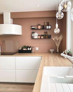 Interior Design Kitchen, Kitchen Decor, Interior Decorating, Voxtorp Ikea, Minimal House Design, Küchen Design, Home And Living, Home Kitchens, Home Furniture