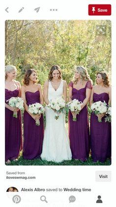 ea045cb27b 9 imágenes estupendas de Vestidos De Dama De Honor De Color Púrpura ...