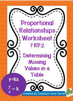 Worksheets Proportional Relationships Worksheets Christmas equation student and love this on pinterest proportional relationships ykx 7 rp 2