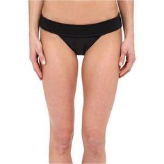 Vix Matelasse Brazilian Bottom (Solid Black) Women's Swimwear ($54) ❤ liked on Polyvore featuring swimwear, bikinis, bikini bottoms, black, vix bikini, brazilian scrunch bikini bottoms, low rise bikini, ruched bikini and vix swimwear