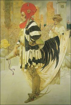 Cock and the Pearl - Gustav-Adolphe Mossa