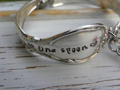 One spoon at a time spoon handle bracelet - spoonie charm - hand stamped - glass heart and crystal beads - chronic pain illness - your color Chronic Fatigue Syndrome Diet, Chronic Fatigue Symptoms, Chronic Illness, Chronic Pain, Rheumatoid Arthritis, Arthritis Remedies, Endometriosis, Spoon Theory, Ehlers Danlos Syndrome