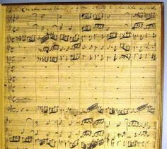 "From NYPL's Blogs: ""First page of Johann Sebastian Bach's manuscript to his Cantata BWV 97, ""In allen meinen Taten"" ""     Students Encounter Bach at LPA"