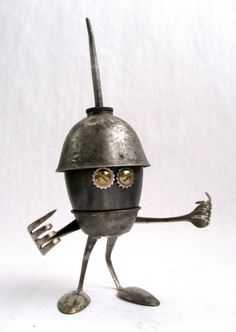 Plew - Found Object Robot Assemblage Sculpture by Brian Marshall