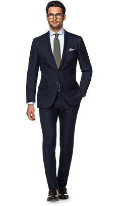 Suit Navy Plain Lazio P5164 | Suitsupply Online Store
