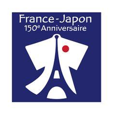 日仏交流150周年のロゴ