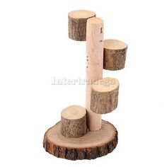 Natural Wooden Ladder Stand Mice Hamsters Degus & Small Rodents Cage Toy