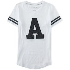 20c4bd3085394 Aeropostale Varsity Mesh A Graphic T ( 7.87) ❤ liked on Polyvore featuring  bleach and