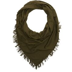 Charlotte Russe Woven Blanket Scarf (€7,72) ❤ liked on Polyvore featuring accessories, scarves, olive, woven scarves, woven shawl, charlotte russe, braided scarves and charlotte russe scarves