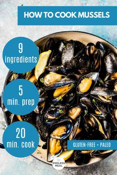 Best Seafood Recipes, Healthiest Seafood, Fish Recipes, Easy Mussels Recipe, Escargot Recipe, Perfect Baked Chicken Breast, Mussels White Wine, Recipe For Mom