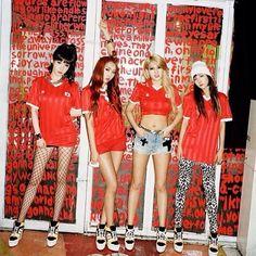 2NE1 @ minzy21mz #Adidas #Red