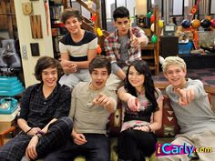 One direction on Icarly!