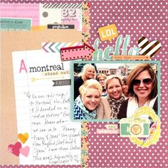 Layout by design team member Vicki Boutin
